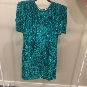 Vintage Laurence Kazar Glittery Dress